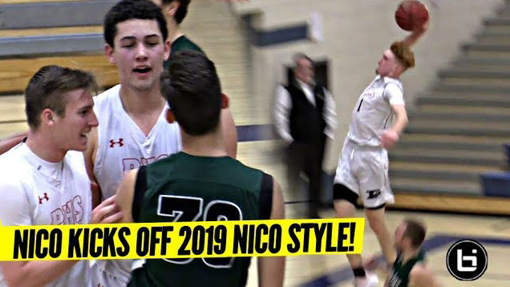 949aca4790b8 Nico Mannion BANG OUT to Kick Off 2019!! Nico s Teammate Gets HEATED!  Featured Video Play Icon