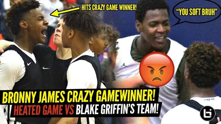 9a0aec4f916 Bronny James Responds to Trash Talk and Hits Crazy TRIPLE OT Game Winner!
