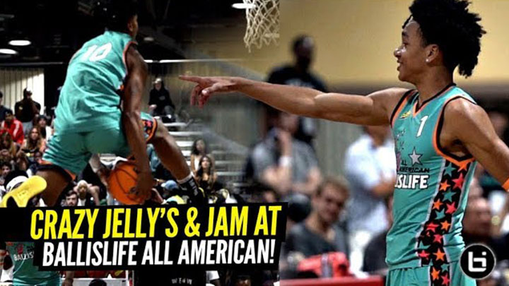 beb07376267 ... Game Presented by Eastbay. Ballislife All Americans Brought the JELLY    JAM! Tre Mann   Boogie Ellis WENT ...