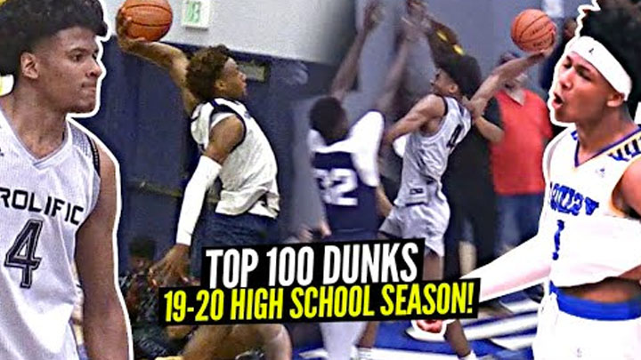 Top 100 Dunks Of 19-20 Season!! Bronny James, LaMelo Ball