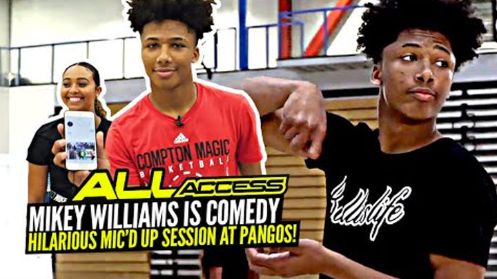 Mikey Williams Is Straight Up COMEDY! HILARIOUS Mic'd Up 1v1 at Pangos All American Camp! All Access