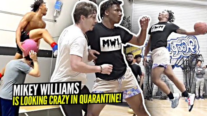 Mikey Williams Is Looking INSANE In Quarantine!! Shows Off IMPROVED Game in Secret R2bball Workout!