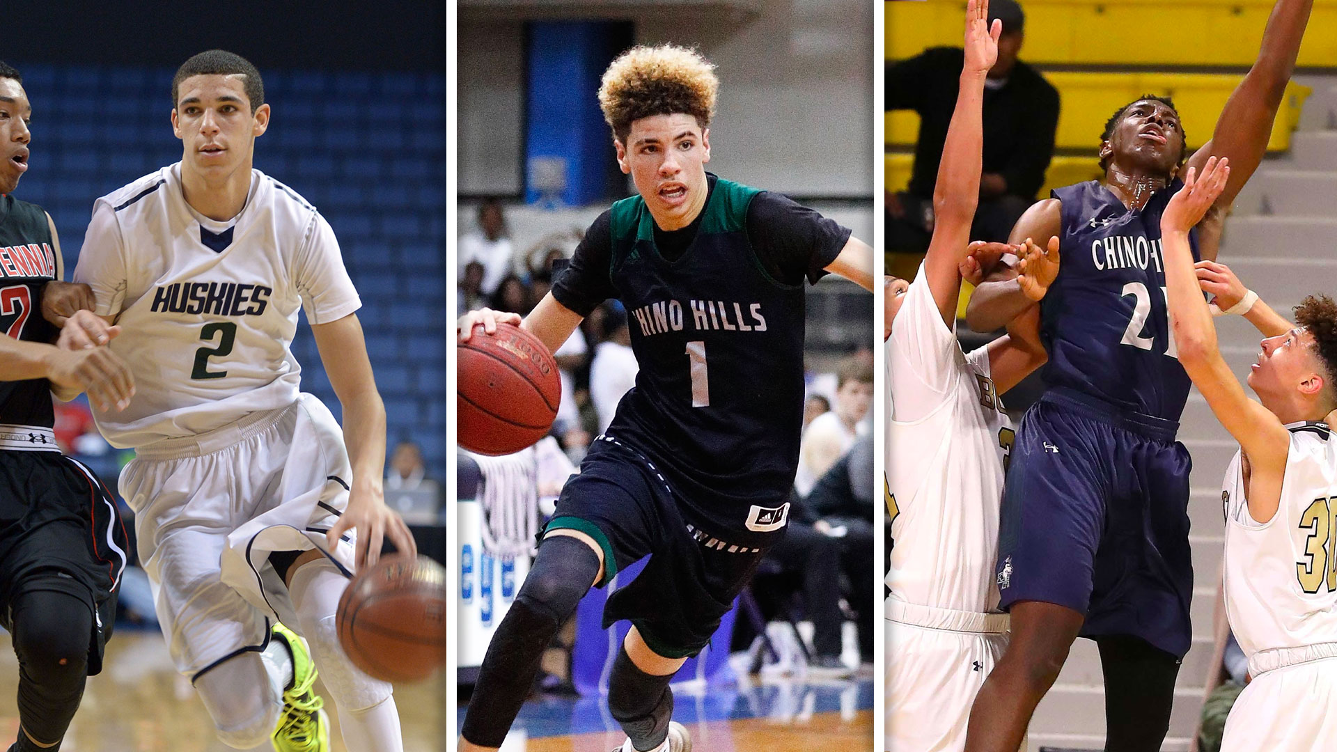 Lonzo Ball, LaMelo Ball, and Onyeka Okongwu