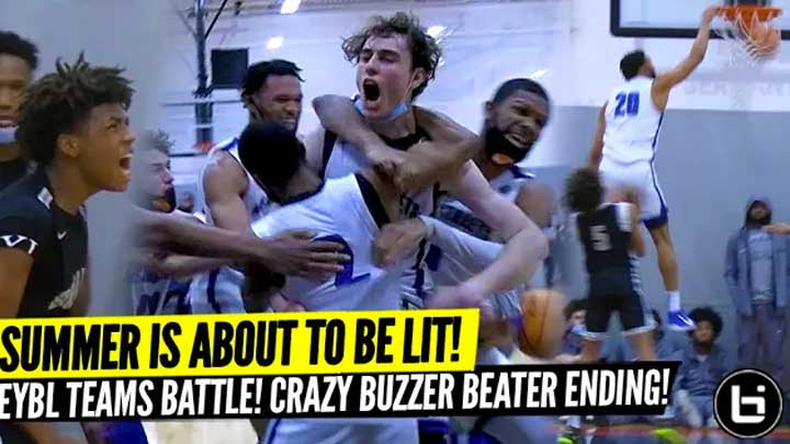 EYBL PREVIEW HAD CRAZY GAME WINNER! TOP GUARDS BATTLE! JEREMY FEARS, NICK SMITH vs TY RODGERS at PHC