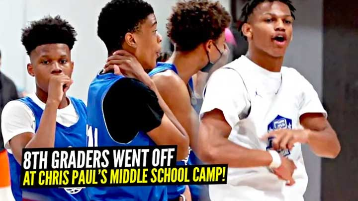 8th Graders Went CRAZY at Chris Paul's Middle School Camp!! Royce Boyden, Solo Bailey & More!