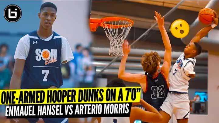 One-Armed Hooper Straight Postered This 7'0″ Guy! Hansel Emmanuel VS Arterio Morris